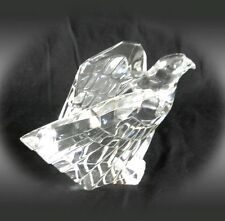 Steuben signed American eagle paperweight figurine - clear crystal FREE SHIPPING