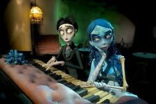 "Tim Burton's Corpse Bride Puppet animation film Fabric poster 20"" x13""  Decor 04"