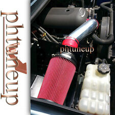 RED 2008-2009 HUMMER H2 6.2 6.2L HEATSHIELD COLD AIR INTAKE KIT SYSTEMS