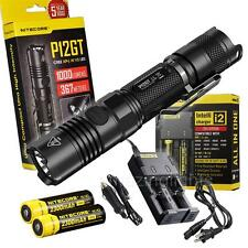 NiteCore P12GT Flashlight w/ 2 x 18650 Batt, i2 Charger, Car Charger- 1000 lumen