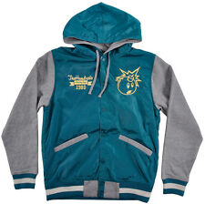 The Hundreds Reloaded Hoodie HUGE Letterman Jacket Logo Fleece Mens Teal