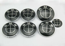 7pc NEW BMW Black EmblemE30 E39 E46 E60 E90 E92 E65 E63 M1 M3 M5 M6 73mm/82mm