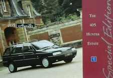 Peugeot 405 Hunter Estate Sales Brochure June 1993 - Special Edition.