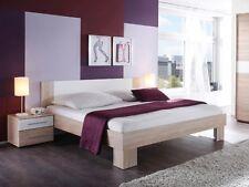 Günstiges Bett 180x200 Eiche Dekor inkl. 2 Nachtkommoden MARTINA Doppelbett