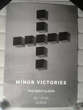 Minor Victories  Official Promo Poster Slowdive Mogwai Editors