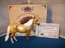 2000 Peter Stone Shez Stone Gold ISH Ideal Stock Horse Model Horse W/Box1 of 175