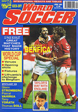 BENFICA / GRAHAM TAYLOR / RED STAR BELGRADE / FLUMINENSE World Soccer   Apr 1992