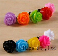 5X Rose Dust Headphone Plug Cap For Samsung Galaxy HTC IPHONE Free ship AU