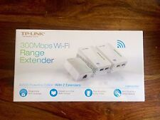 NEW! TP-LINK AV500 Powerline Wi-Fi Range Extender Edition 2-Pack TL-WPA4220NET
