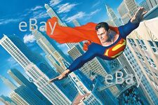 SUPERMAN Over METROPOLIS PRINT Alex Ross art