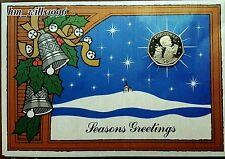 1989 Fifty Pence 50p Choir Boy Gibraltar Christmas Card UNC