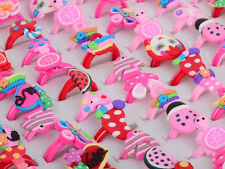 10pcs Wholesale Lots Jewelry Mixed Children Polymer Clay Rings Free Shipping Hot