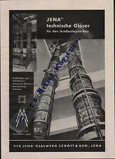 JENA, Werbung/Anzeige 1954, Glas-Werk Schott & Gen. - Jenaer Glas