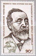 GABON GABUN 1981 760 455 Heinrich von Stephan UPU Founder Weltpostverein MNH