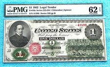 1862 $1 Fr #16c Unc-62 Net US Currency Legal Tender Large size note