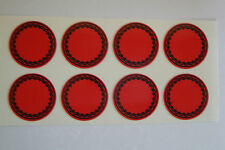 "12  RED  STICKERS 1"" CROWN GREEN BOWLS LAWN BOWLS FLATGREEN  INDOOR BOWLS"
