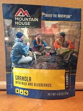 2 Mountain House Granola w/ Blueberries & Milk 2 Serving Pouch Freeze Dried Food