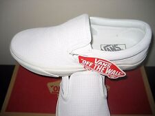 Vans Classic Slip on Womens Braided Suede Blanc De Blanc White shoes Size 9.5