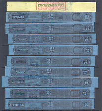 1926 US Tax Paid Revenue Tobacco Strips Collection Lot of 10 w Pinkerton - Used*
