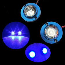 2x blue Car Motorcycle High Power LED Decorative Strobe Flash Brake Tail Light