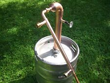 "Beer Keg Kit 2"" inch Copper Pipe Moonshine Still Pot Still Column reflux"
