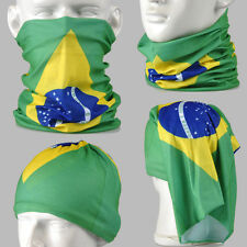 Flag of Brazil Multi-function Tubu Scarf Bandana Cycling Bicycle Face Mask AA106