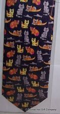 Coloured Cats Silk Tie