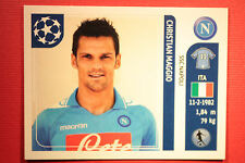 PANINI CHAMPIONS LEAGUE 2011/12 N 64 MAGGIO NAPOLI WITH BLACK BACK MINT!!