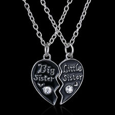 Sister's Fashion Broken Heart Pendant Necklace Popular Chic