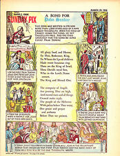 Sunday Pix Vol 5 No 13 March-29-53 A Song For Palm Sunday Cover !