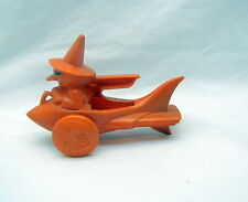 1950's Candy RARE - Halloween Orange Witch In A Rocket w/Jack-O-'Lantern Wheels