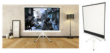 125x 125cm Blanco Trípode Portátil HD Mate desplegable pantalla Proyector Home Cinema