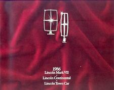 1986 Ford Lincoln Mark VII Continental Town Car Brochure Canada my4623