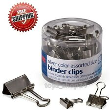 Binder Clips Metal Impression Paper Organizer Assorted Size 30Pc Office Supplies