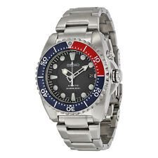SEIKO MEN KINETIC CAPACITOR SCUBA DIVER'S STEEL WATCH 200M SKA369P1