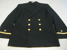 US Navy USN Military Service Dress Blues Jacket Coat Uniform 39 XS X-Short EUC