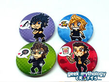 Final Fantasy XV 15 FFXV FF15 Fan Art Pin Back Button Badges - Set of 4