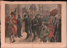 Brest Marins Sailors US Navy Messe Catholique Uniforme Suisse 1910 ILLUSTRATION