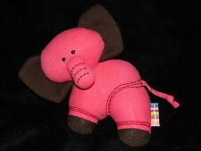 MAMAS AND PAPAS RED ELEPHANT SOFT TOY TRAVEL COMFORTER DOUDOU