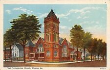 MONROE LOUISIANA FIRST PRESBYTERIAN CHURCH POSTCARD 1930s  LARGEST GAS FIELD