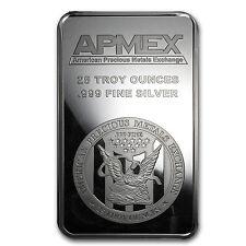 25 oz APMEX Silver Bar - Struck Silver Bar - SKU #83306