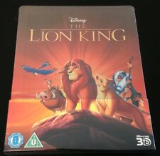 Disney THE LION KING 3D & 2D Blu-Ray SteelBook Region Free Zavvi UK Vaulted Rare