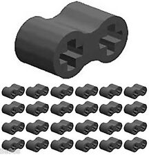 25 Lego RUBBER Axle Connectors (technic,mindstorms,double,flexible,robot,bumper)