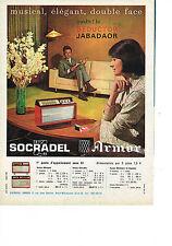 PUBLICITE   1961   SOCRADEL ARMOR  transistor
