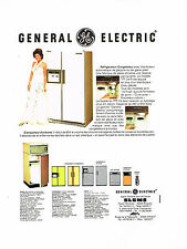 PUBLICITE ADVERTISING 074  1977  GENERAL ELECTRIC  réfrigérateur  compacteur