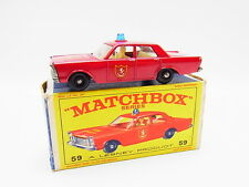 "LOT 33363 | Matchbox 59 C Ford Galaxie Fire Chief Feuerwehr neuwertig in ""E""-Box"