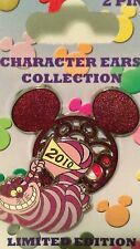 Disney Character Ears Collection Cheshire Cat 2 Pin Set 3-D LE 2000 VHTF CUTE
