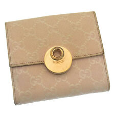 Auth Gucci W Hook Wallet GG Canvas Women''s used C 1542