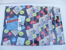 #1 DAD Gift Wrap Lot of 8 Packages Fathers Day Wrapping Paper 66.64 Sq Ft