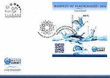 Hungary 2016 FDC Budapest 2016 Water Summit 1v M/S Cover Science Stamps